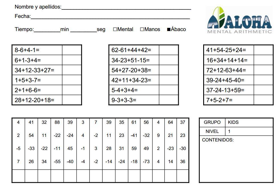 ejercicio resueltos matematica primer ciclo primaria: