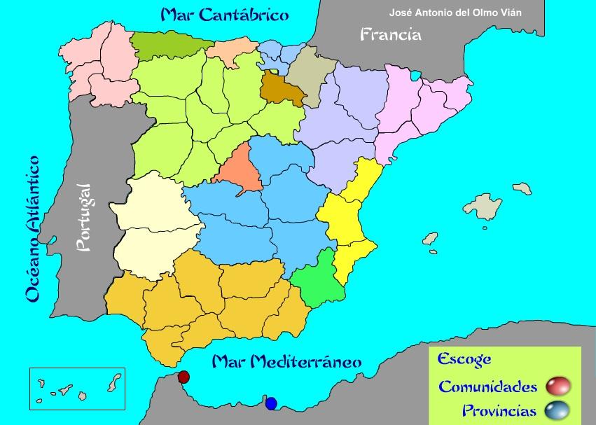 Mapa De España Provincias Y Comunidades.Mapa Comunidades Espana
